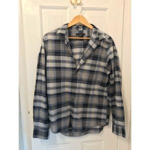 John Varvatos blue grey plaid shirt NWOT medium